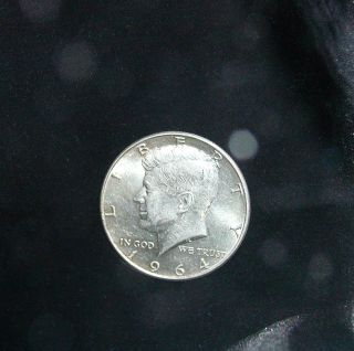 1964 Kennedy Half Dollar Us Coin 40% Silver Circulated photo
