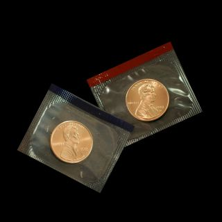2003 P+d Lincoln Memorial Penny Uncirculated Coin In Cello photo
