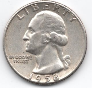 1958 Washington Silver Quarter photo