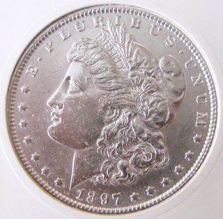 1897 Morgan Silver Dollar - Brilliant Uncirculated - Morgan Dollar photo