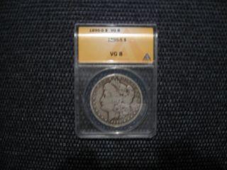 1895 - S Morgan Silver Dollar Vg 8 photo