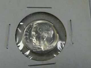 1958 Clipped Silver Roosevelt Dime - Error Coin - photo