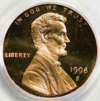1998 - S 1c Lincoln Memorial Cent Pr69dcam Pcgs Certified photo