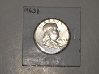 1963 D Franklin Silver Half - Dollar - photo