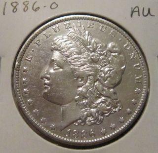 1886 - O Morgan Silver Dollar Au Rare Key Date Us Silver Coin photo