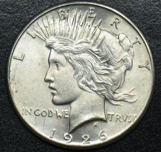 1926 Peace Silver Dollar Grade Gem Bu L610 photo