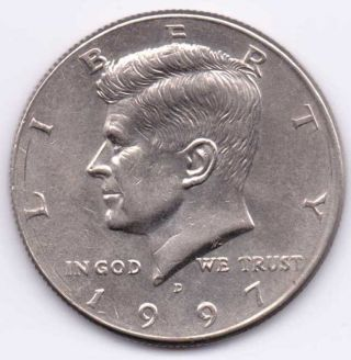 1997 - D Kennedy Half Dollar That Is About Uncirculated photo