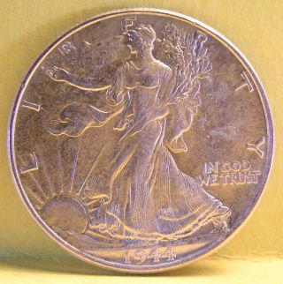 1944 - P Walking Liberty Half Dollar Us Crazy Seller Ships For photo