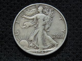 1942 - S Walking Liberty Silver Half Dollar photo