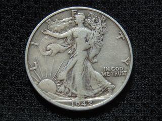 1942 - S Walking Liberty Silver Half Dollar photo