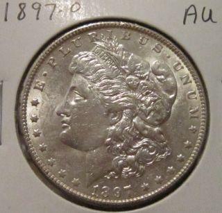 1897 - O Morgan Silver Dollar Au Rare Key Date Us Silver Coin photo