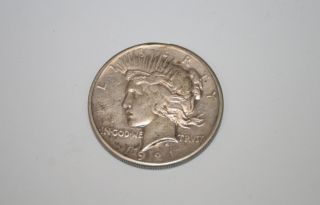 United States Silver Dollar Peace 1921 Coin Rare $1 photo