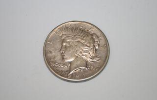 United States Silver Dollar Peace 1921 Coin Rare $1 photo