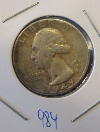 1949 D Washington Silver Quarter photo