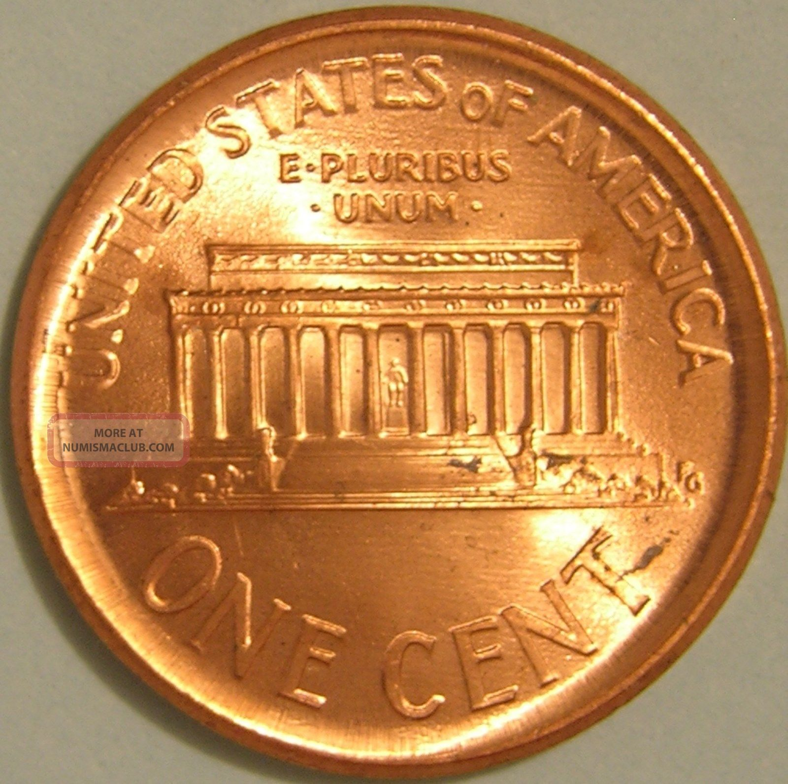 2001 P Lincoln Memorial Penny Broadstruck Error Coin