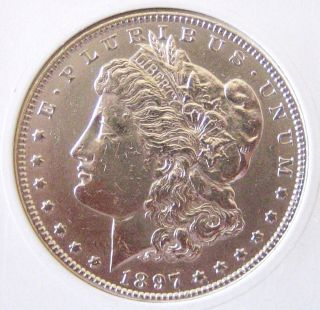1897 - Morgan Dollar - Brilliant Uncirculated - Silver Prices Don ' T Stay Low photo