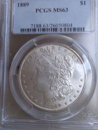 1889 Morgan Dollar - Ms - 63 Pcgs photo