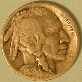 1928 S Buffalo Nickel,  Aj 484 photo