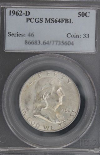 1962 - D Franklin Pcgs Ms 64 Fbl - Nr photo