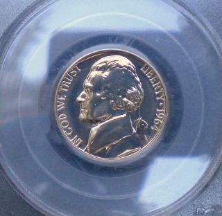 1964 Jefferson Nickel Proof Graded Pr67 By Pcgs photo