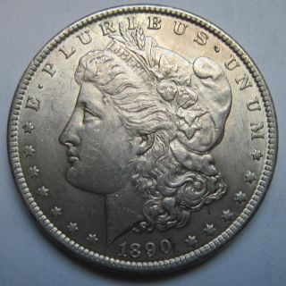 1890 Morgan Silver Dollar - Au - Vam 1 ??? photo