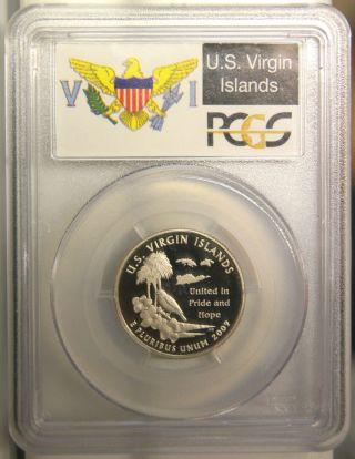 U.  S.  Virgin Islands - 2009s - Pcgs Pr69 Dcam Statehood Quarter Deep Cameo Proof photo