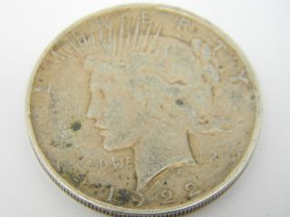 1922 D Peace One Dollar Silver Coin T735 photo