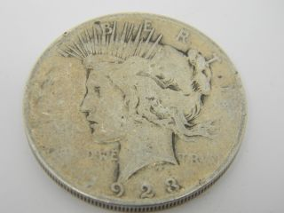 1923 Peace One Dollar Silver Coin T736 photo