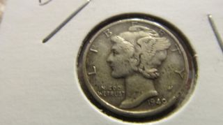 1940 - D Mercury Dime 90% Silver photo