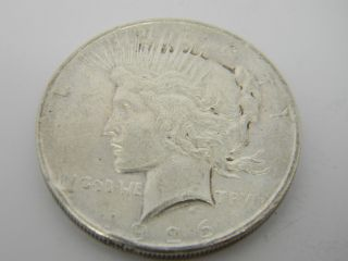 1926 D Peace One Dollar Silver Coin T737 photo
