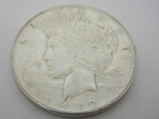 1922 Peace One Dollar Silver Coin T738 photo