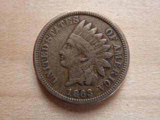 1863 Copper - Nickel Indian Head Cent - Full Date/readable Liberty - Details photo