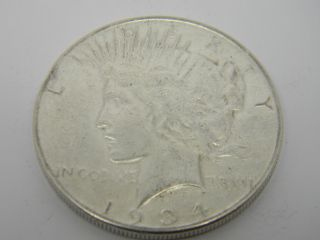 1934 Peace One Dollar Silver Coin T739 photo