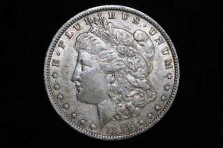 1896 O Morgan Silver Dollar White Coin photo