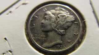1936 - D Mercury Dime 90% Silver photo
