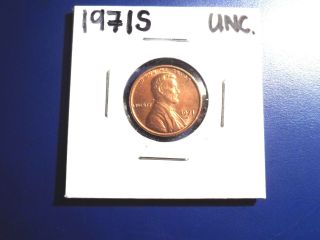 1971s Unc.  Lincoln Memorial Penny photo