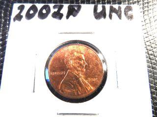 2002p Unc.  Lincoln Penny photo