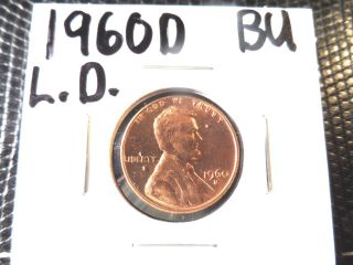 Brilliant Uncirculated 1960d Large Date Lincoln Penny photo