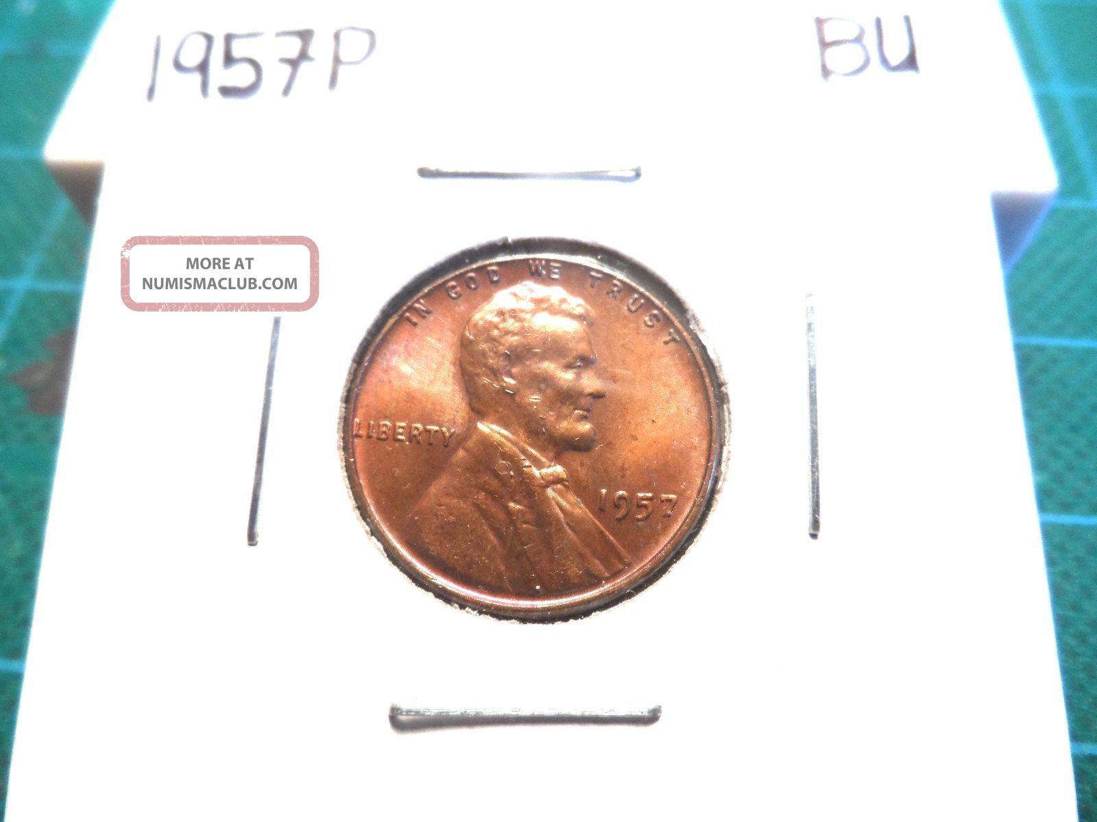 A Uncirculated 1957p Lincoln Wheat Penny Small Cents photo