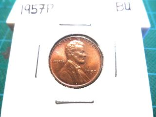 A Uncirculated 1957p Lincoln Wheat Penny photo