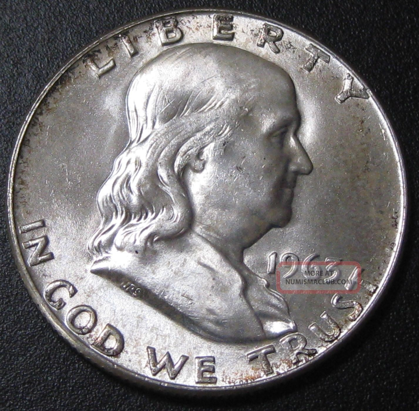 1963 D Franklin Silver Half Dollar Choice Bu T449 Half Dollars photo