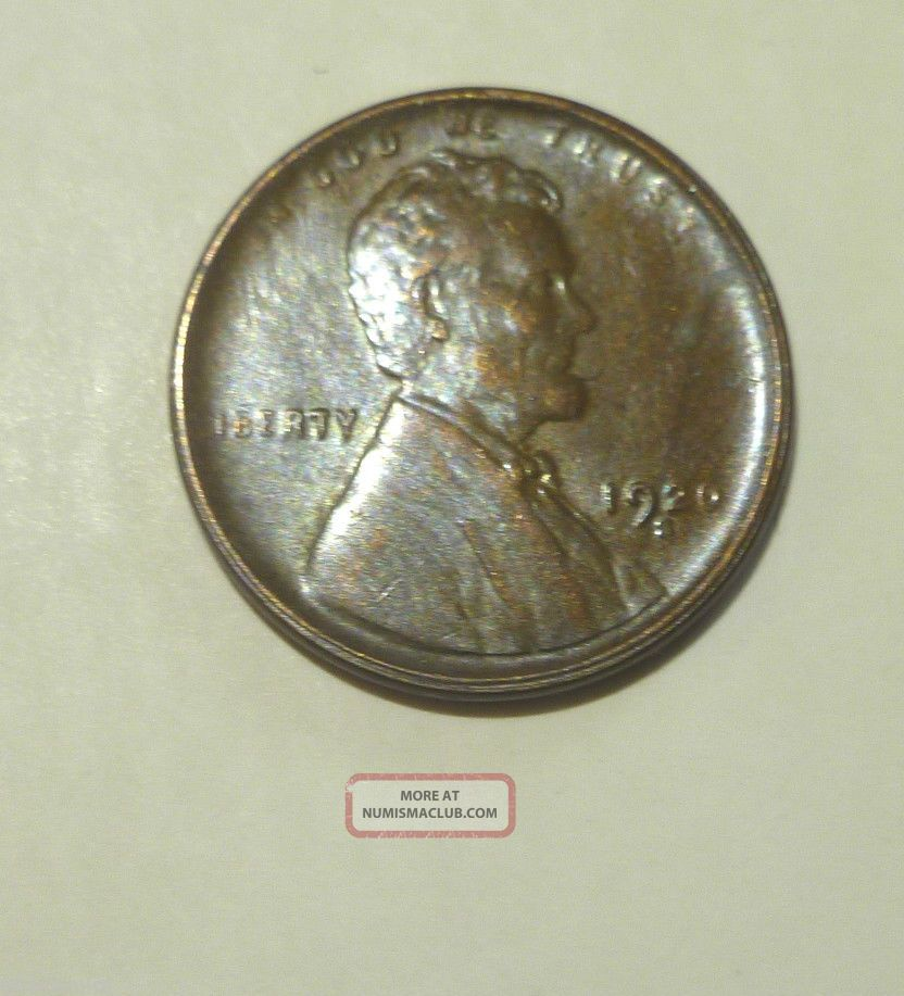 1920 S Lincoln Cent Au/unc Small Cents photo
