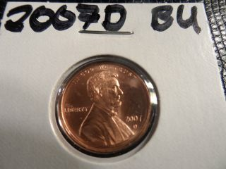 2007d Cello Unc.  Lincoln Penny photo