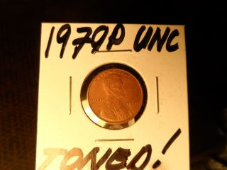 1979p Unc.  And Toned Lincoln Penny photo