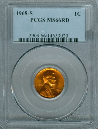 1968 - S Lincoln Cent Pcgs Ms 66. photo