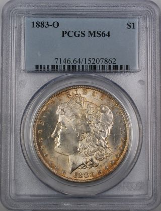 1883 - O Morgan Silver Dollar Coin,  Pcgs Ms - 64,  Light Toning photo