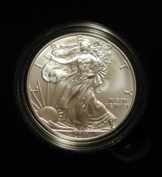 2011 - W Silver Eagle $1 Uncirculated In Ogp,  Gorgeous Coin photo