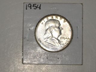 1954 Franklin Silver Half - Dollar - photo