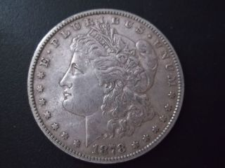 1878 Morgan Dollar Vf+ 7tf Silver photo