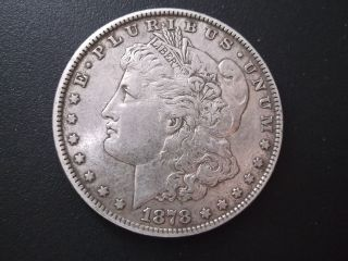 1878 Morgan Dollar Vf+ Silver photo